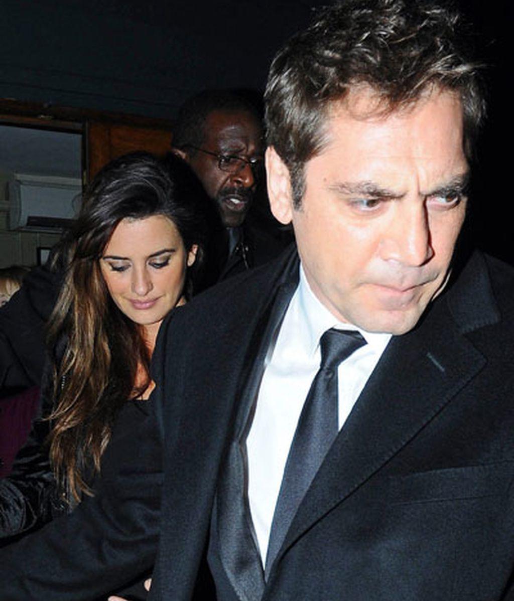 Bardem, Penélope y el barrigón se van de cena en Londres