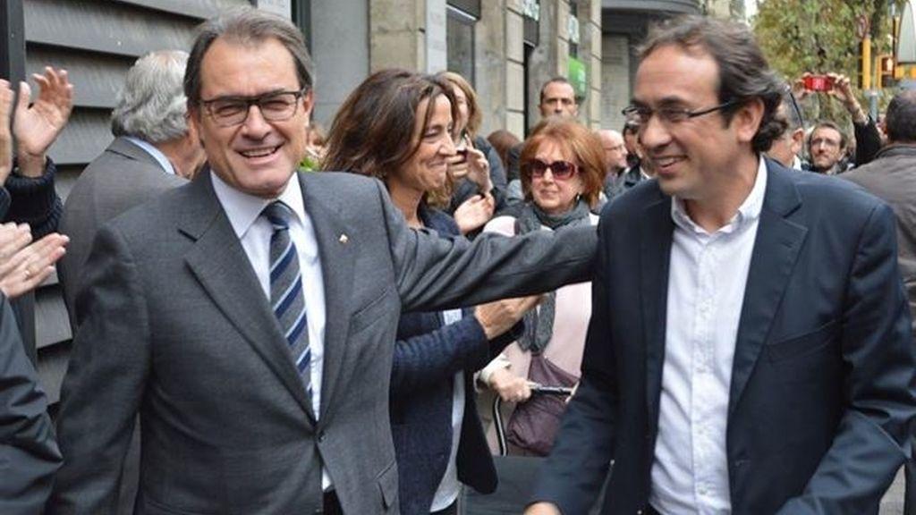 Artur Mas, aclamado por Convergéncia en el día después del 9N