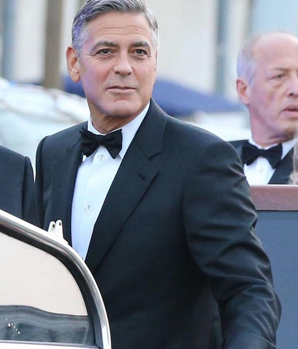 George Clooney instantes antes de pronunciar el 'sí, quiero'