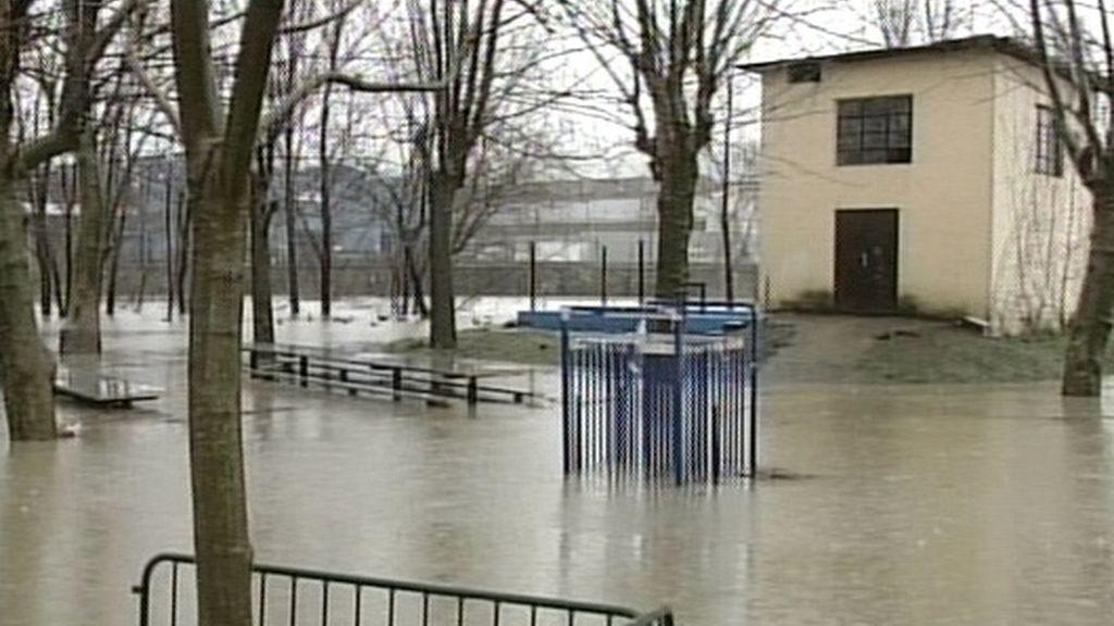 San Sabastián inundado