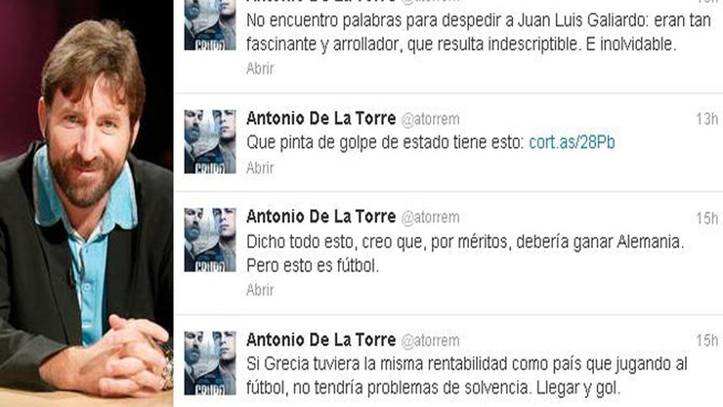 Despedida a Juan Luis Galiardo en Twitter