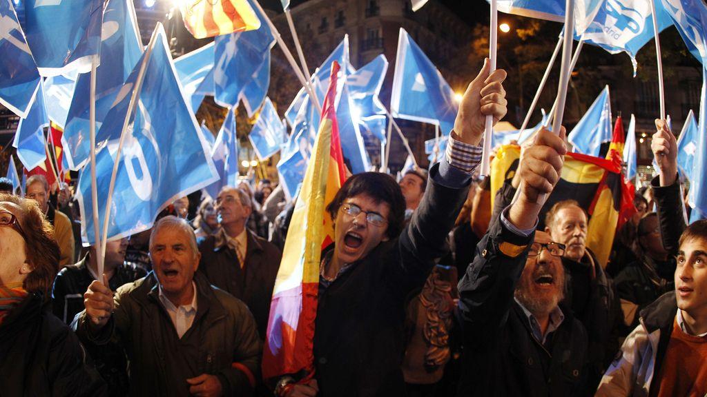 Celebración en la sede del PP en Madrid