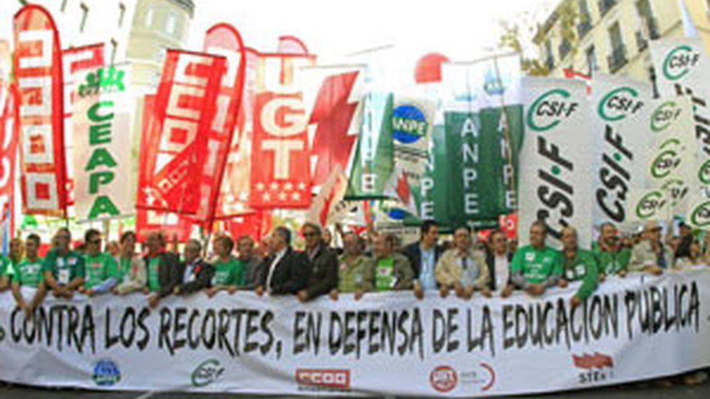 La manifestación ha partido desde Atocha FOTO: EFE