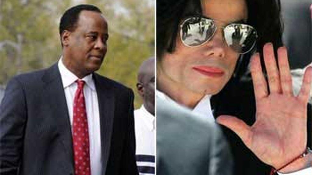 Conrad Murray y Michael Jackson, en imágenes de archivo.