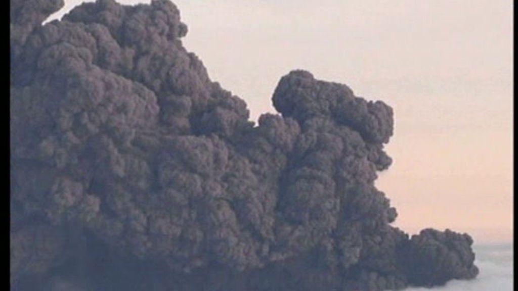Imágenes aéreas del volcán
