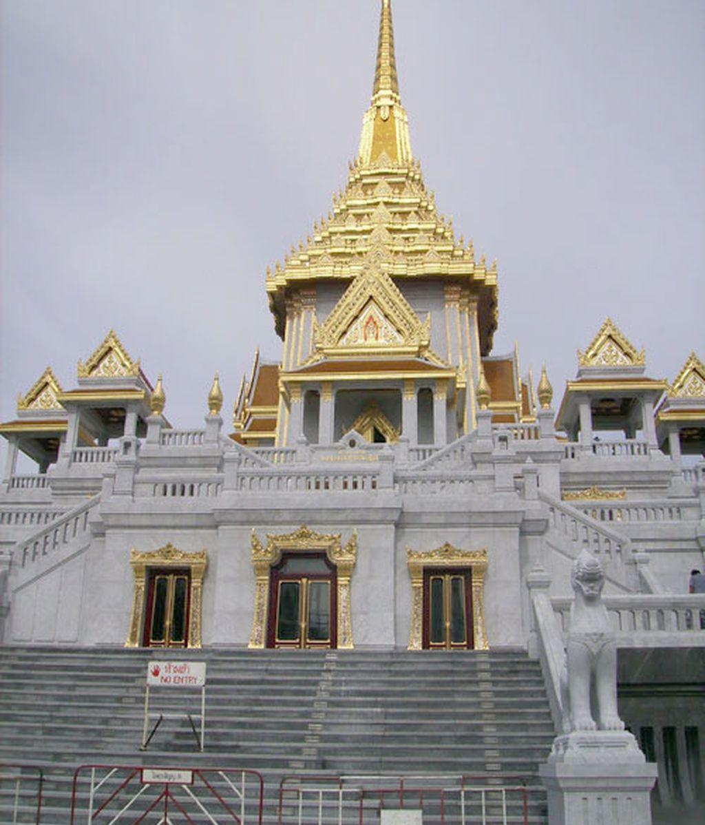 Imagen del templo Wat Traimit, que contiene al buda de oro. Foto: RSO.