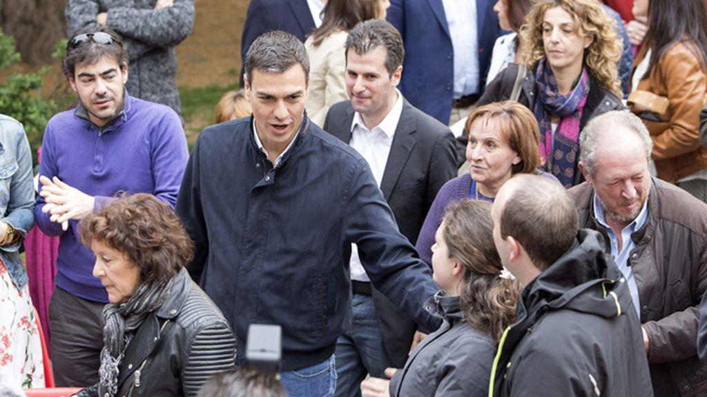 Pedro Sánchez en un acto del PSOE en Ávila