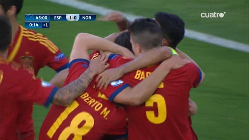 Rodrigo adelantó a España justó antes de llegar al descanso