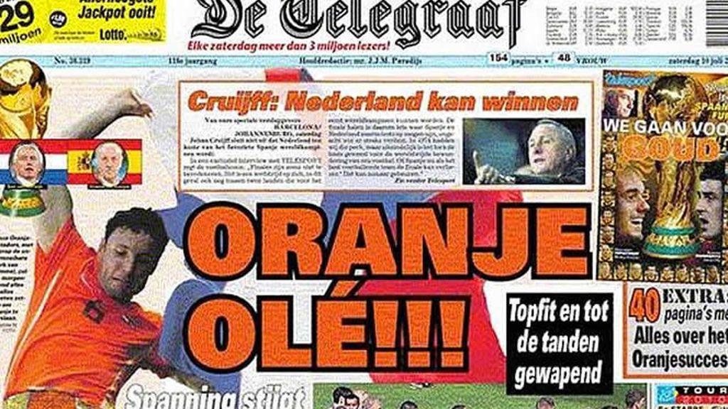 La portada del diario 'De Telegraaf'