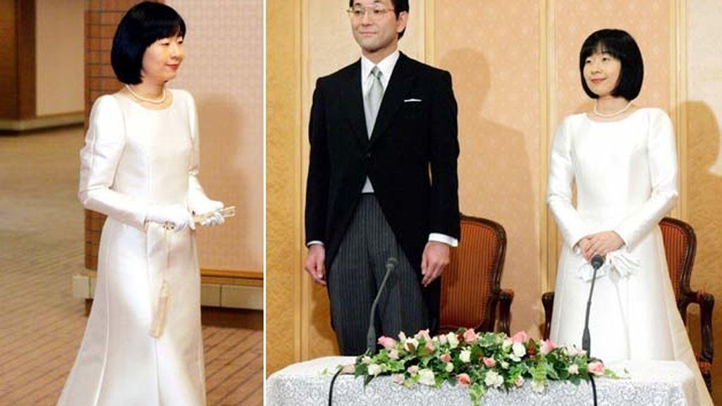 15-11-2005 La princesa Sayako Kuroda y Yoshiki Kuroda/ Tokio (Japón)