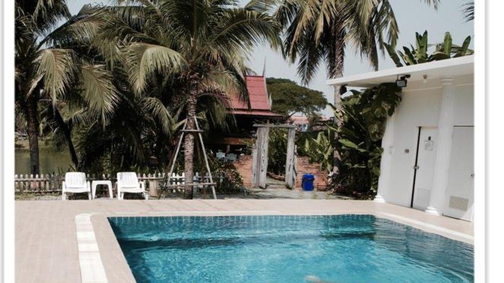 Baan Thai House, Ayutthaya, Tailandia, natación