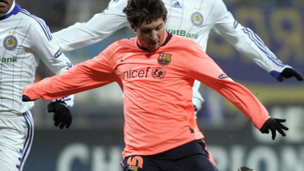 Gol de Messi al Dínamo de Kiev