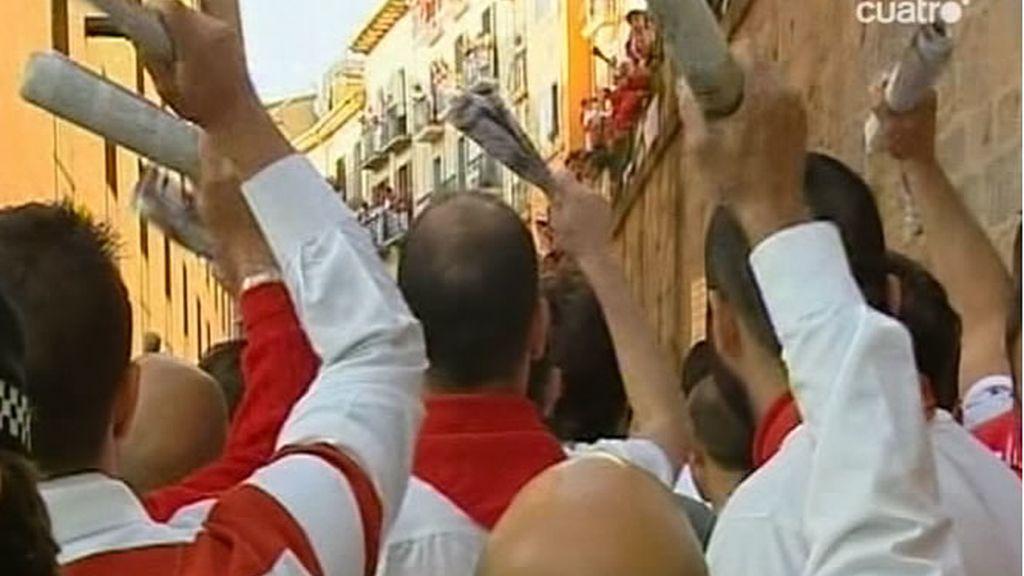 Primer cántico de los mozos a San Fermín