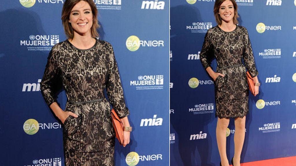 Sandra Barneda eligió los zapatos perfectos: negros y con punta dorada