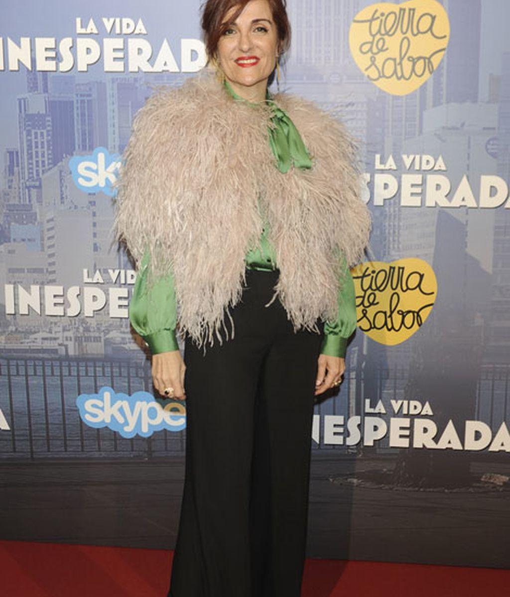 Elvira Lindo posó en el photocall