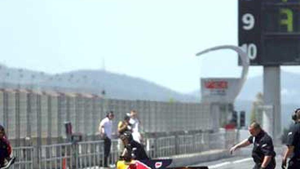 Red Bull prueba en Montmeló. Foto: EFE