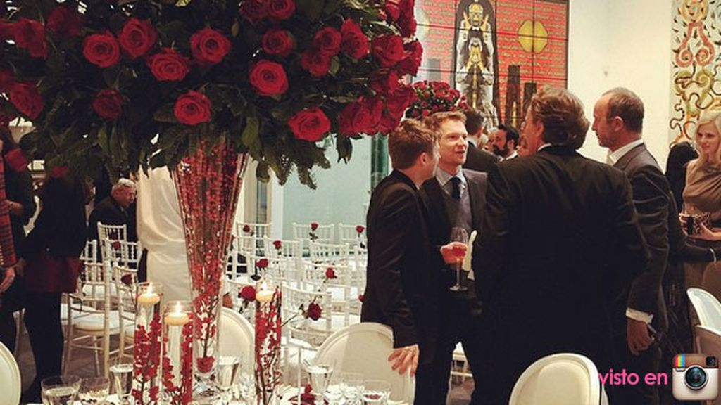 Como en su unión civil, la decoración ha estado compuesta por rosas rojas