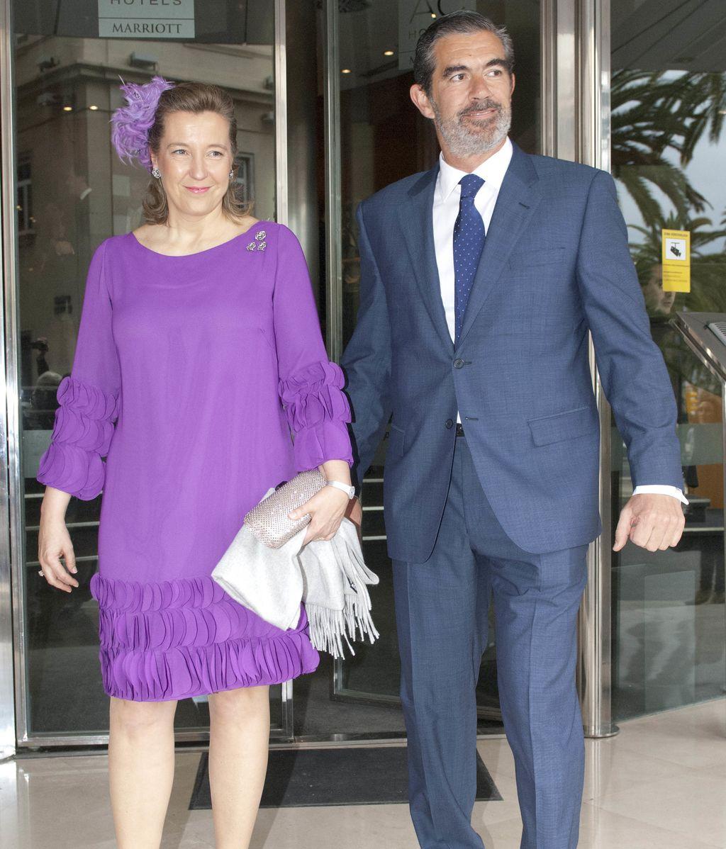 Cristina de Borbón Dos Sicilias y Pedro López Quesada