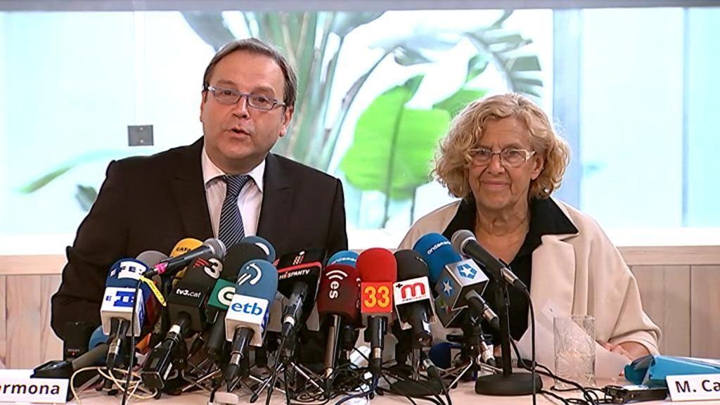 Carmena y Carmona anuncian su acuerdo de investidura