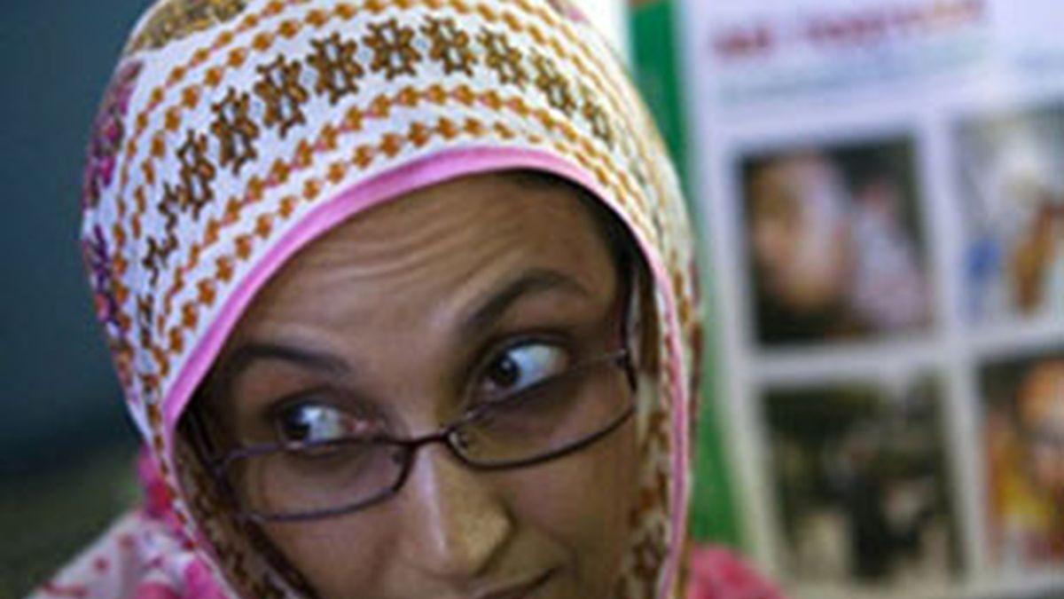Aminattou Haidar, dispuesta a hablar con el Gobierno español. Foto: EFE