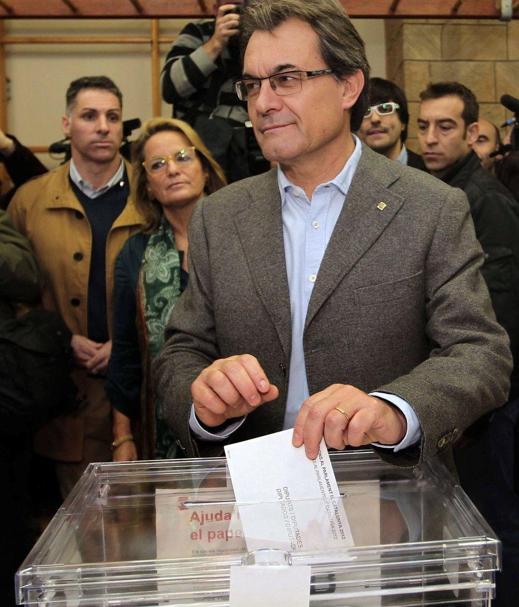 El presidente catalán y candidato de CiU a la reelección, Artur Mas