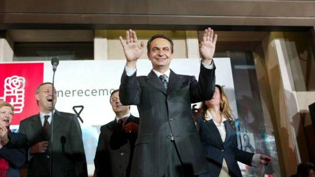 El día de la victoria electoral en Ferraz en 2004