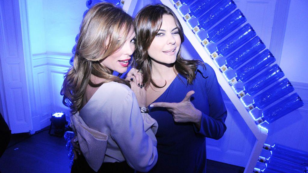 Las modelos Raquel Rodríguez y María José Suárez