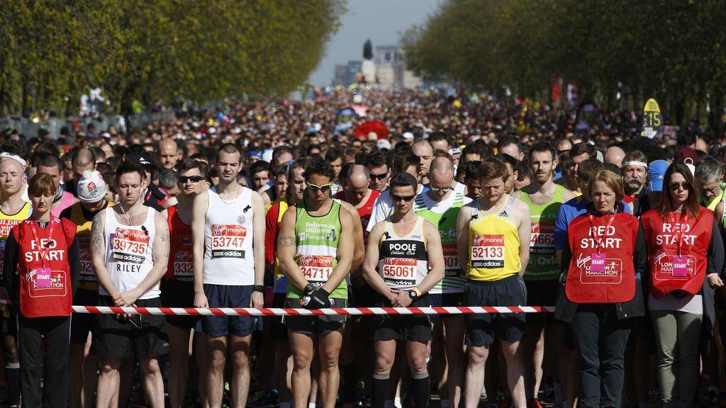 Minuto de silencio en la maratón de Londres