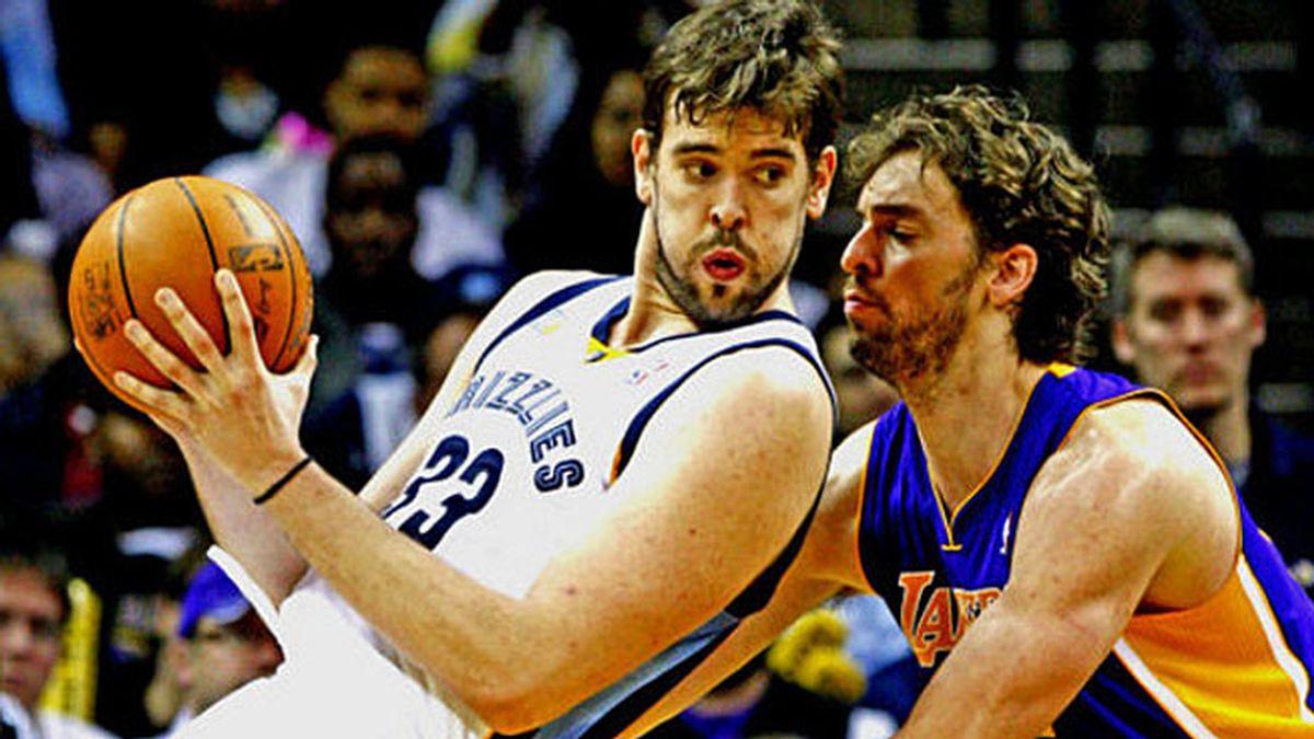 Gasol vs. Gasol en el Lakers vs. Memphis