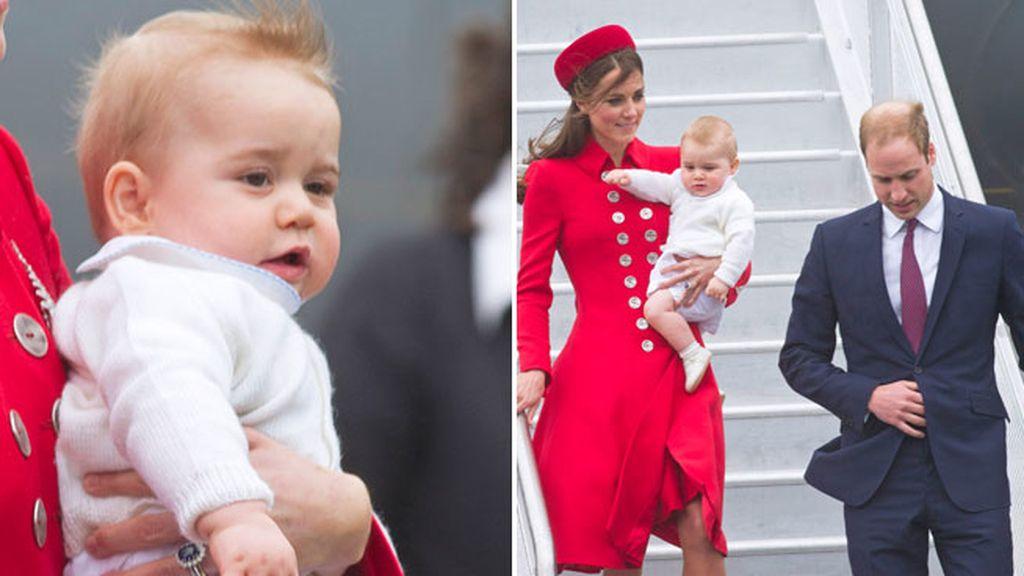 El príncipe George, de nueve meses, en su primer viaje oficial