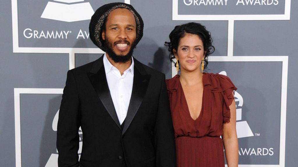 Ziggy Marley acudió con su mujer al homenaje que la música rindió a su padre