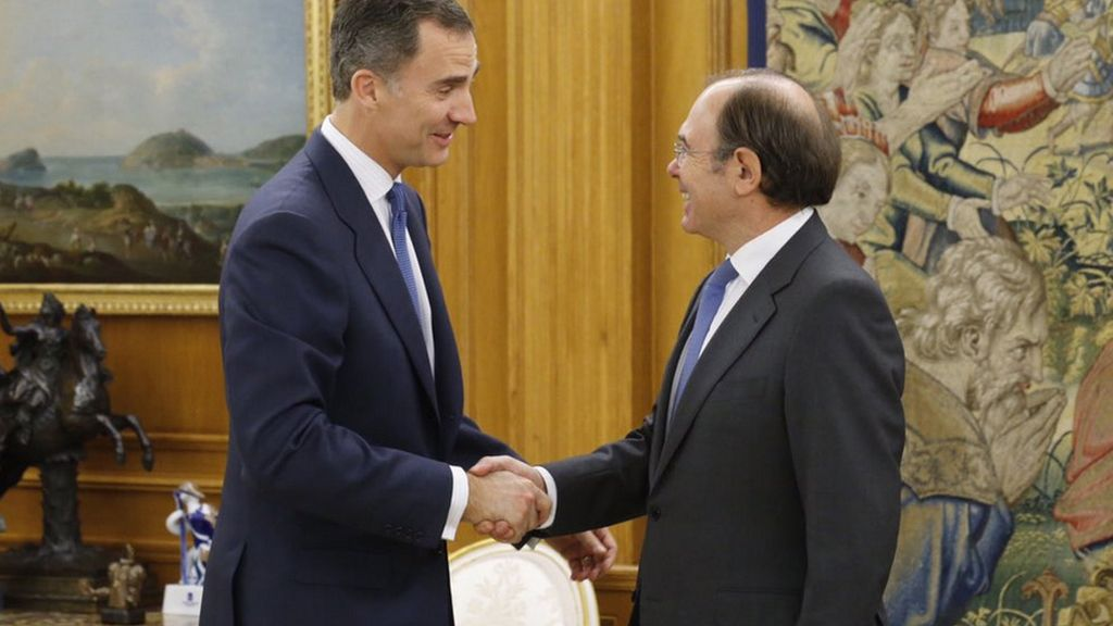 Pío García-Escudero con el Rey