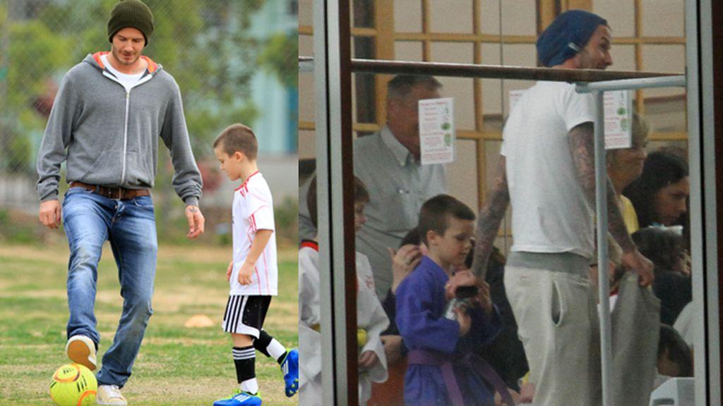 Cruz Beckham, balón y patada