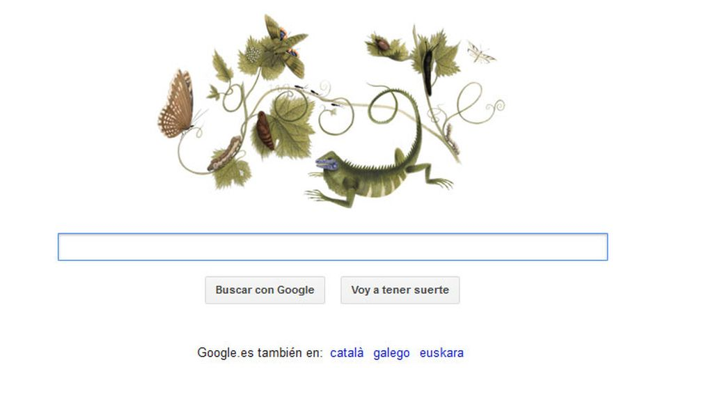 El Doodle de Google en homenaje a Anna Maria Sibylla Merian