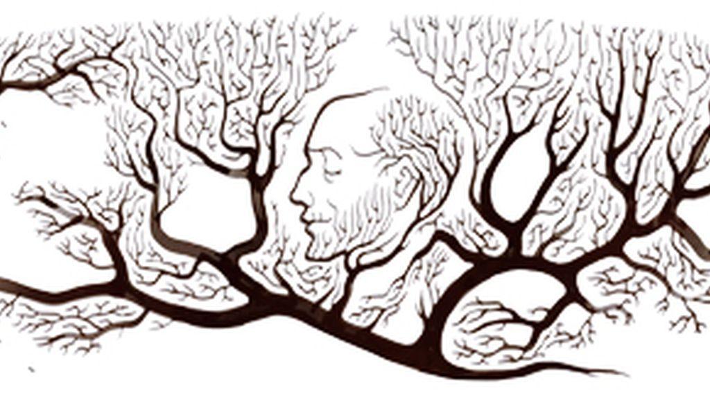 El doodle en homenaje al médico español Ramón y Cajal.