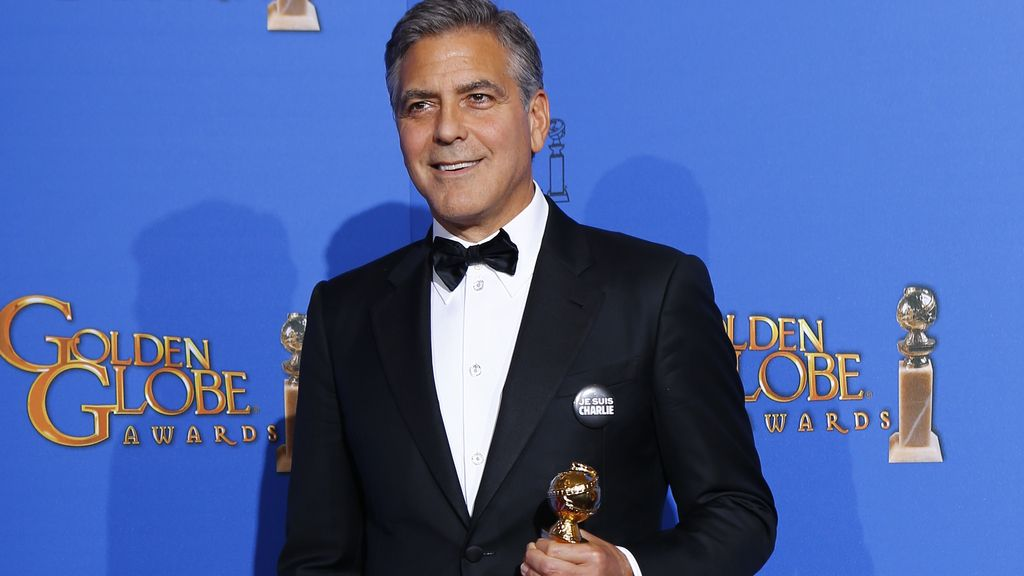 """George Clooney en los Globos de Oro: """"Je suis Charlie"""""""