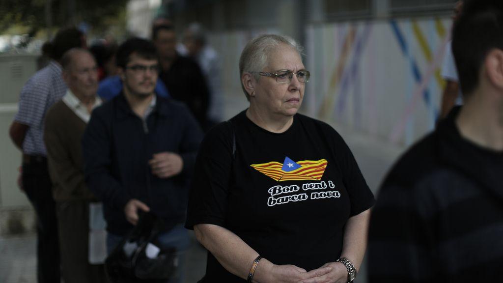 Elecciones catalanas: colas para votar