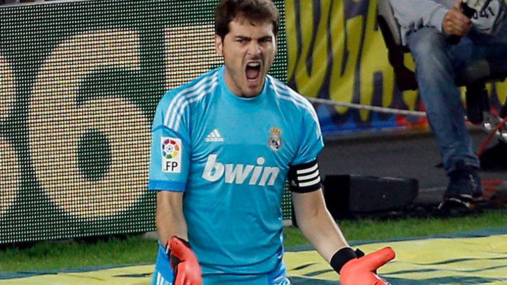 Casillas enfadado tras encajar el primer gol