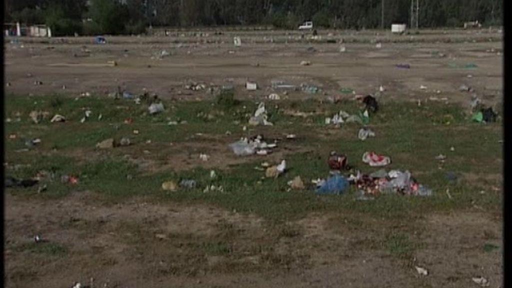 Toneladas de basura en Jerez