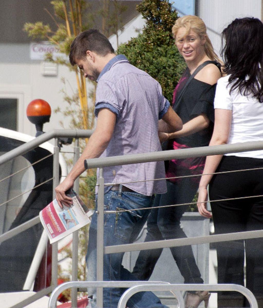 Piqué se escapa para ver a Shakira en París