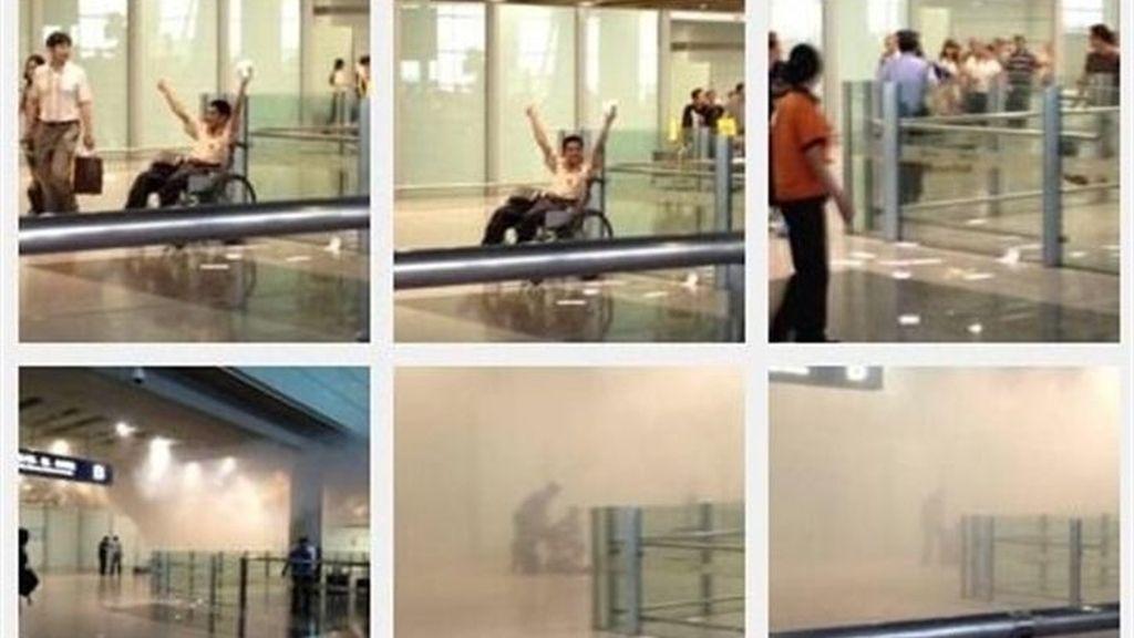 Un hombre en silla de ruedas detona una bomba en el aeropuerto de Pekín