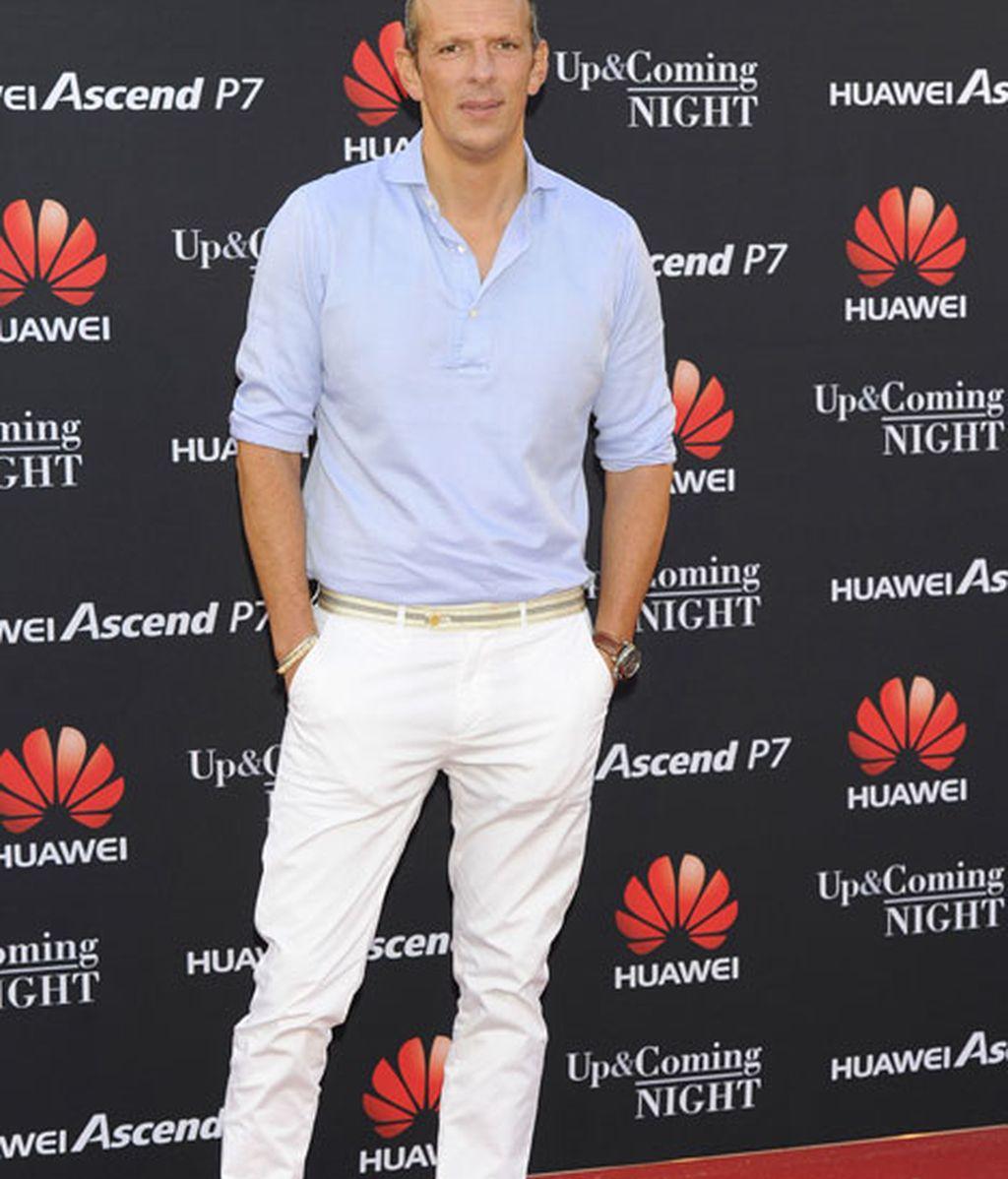 El presentador Jaquín Prat en la fiesta de Huawei