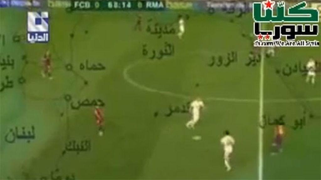 Jugada del Barça analizada por la televisión siria