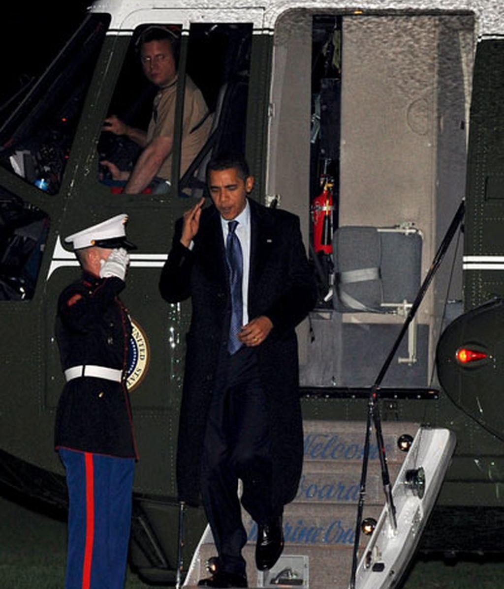 Obama vuelve a casa