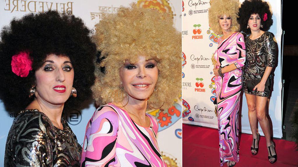 Bibiana Fernández y Rossy de Palma, felices con sus pelucas