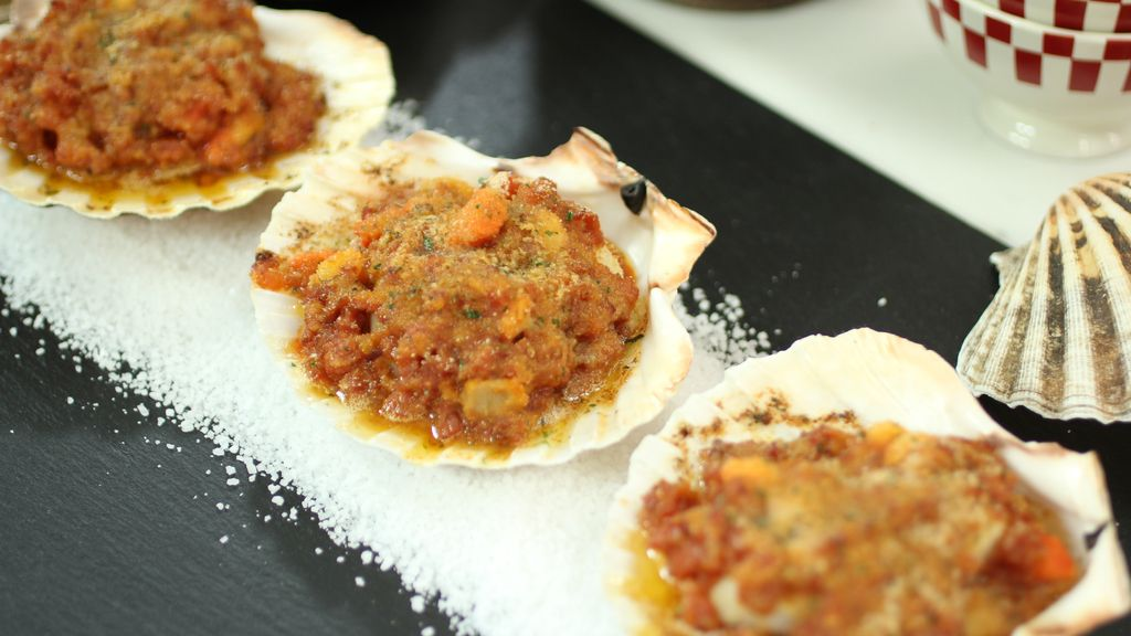 Vieiras a la gallega de 'Robin Food' con Alba Lago