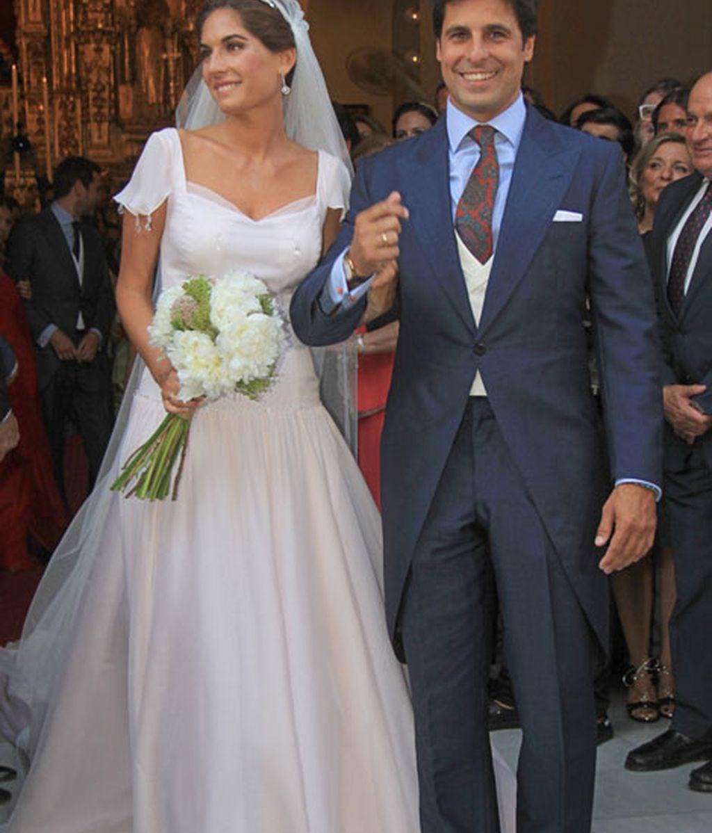 La pareja, feliz y sonrientes