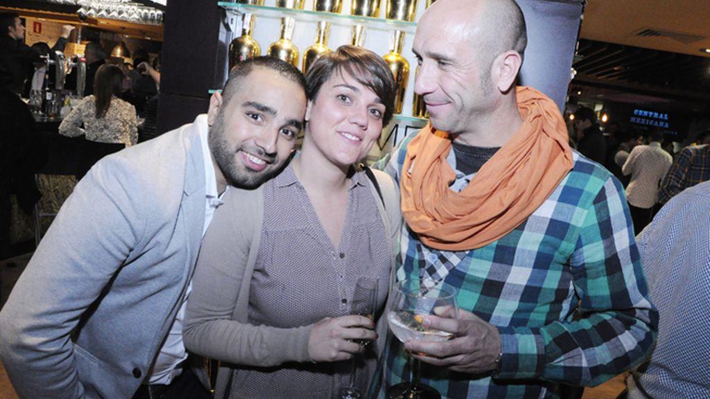 Tomás Palacios, Natalia Muñoz e Ignacio García
