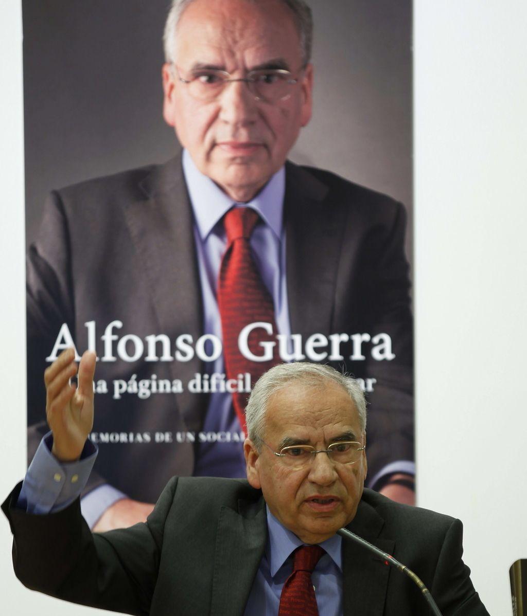 """Alfonso Guerra: """"La gente va a reaccionar y no de forma tan pacífica como quisiéramos"""""""