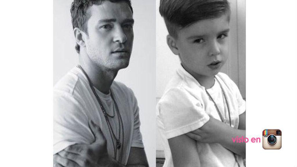 Aún le falta un poco de biceps para ser como Justin Timberlake